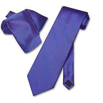 Antonio Ricci NeckTie zakdoek w / geribde lijnen mannen nek Tie instellen
