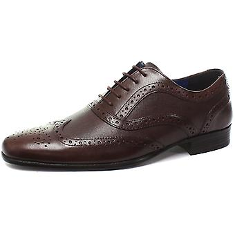 Red Tape Carn 2 Bordo Mens Lace Up Brogue Shoes
