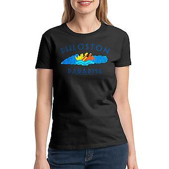 T-shirt noir le cinquième élément Fhloston Paradise rétro femmes