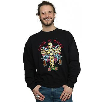 Guns N Roses Men's Skull Cross Sweatshirt