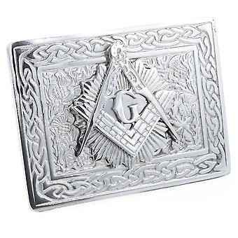 Celtic Masonic Pewter Belt Buckle