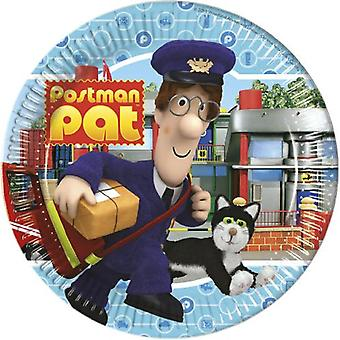 Post Pat partij plaat mailman Postman Pat Ø 23 cm verjaardag 8 stuks
