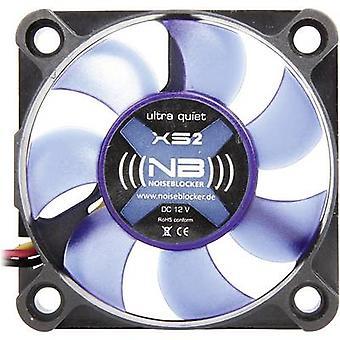 NoiseBlocker BlackSilent XS2 PC fan Black, Blue (translucent) (W x H x D) 50 x 50 x 10 mm