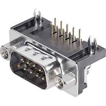 BKL elektroniske 10121002 D-SUB pin stripe 90 ° antall pinner: 9 skrive (vinkelrett) 1 eller flere PCer
