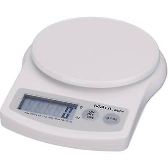 Maul MAULalpha Letter scales Weight range 5 kg Readability 1 g battery-powered White