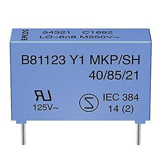 TDK B81123C1222M Y1 suppression capacitor Radial lead 2.2 nF 250 V AC 1 pc(s)