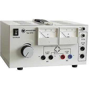 Statron 5312.1 Bench PSU (adjustable voltage) 0 - 25 V AC 10 A 530 W No. of outputs 3 x