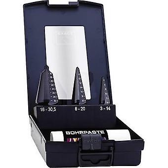 Exact 5275 Quick-helix drill bit set 3-piece 3 - 14 mm, 4 - 20 mm, 16 - 30.5 mm HSS-E TiAIN Triangular shank 1 Set