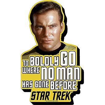 Capt. Kirk Star Trek To Boldly Go Quote Chunky Thick Fridge Magnet