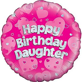 Oaktree 18 Inch Happy Birthday Daughter Pink Foil Party Balloon
