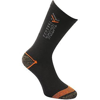 Tactical Threads Mens Hardwearing Anti Bac Work Socks 3 Pack