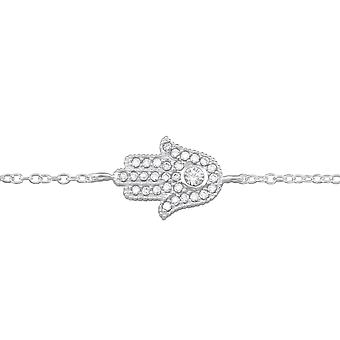 Hamsa - 925 Sterling Gümüş Zincir Bilezikler - W35053x