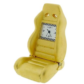 Gift Time Products Race Seat Mini Clock - Gold