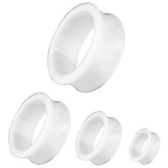 Tunnel de chair, Piercing, bijoux de corps, blanc d'oreille   3 - 30 mm
