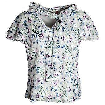 Hudson & Onslow Delicate Daisy Printed Short Sleeve Top