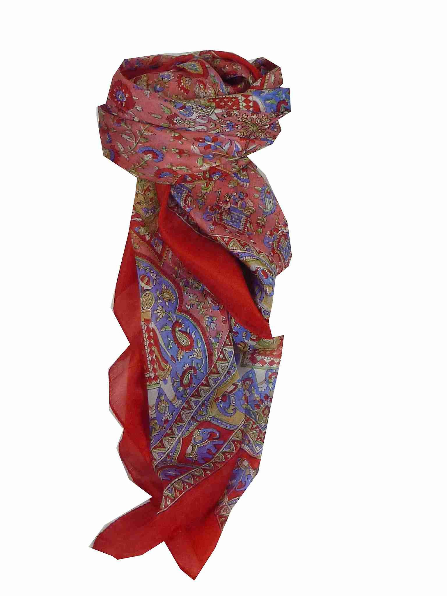 Mulberry Silk Traditional Square Scarf Donya Rose by Pashmina & Silk