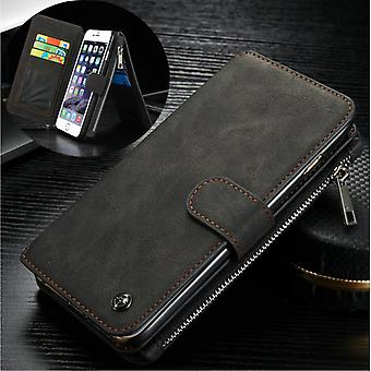 CASEME iPhone 6/6s Retro leather wallet case-Black