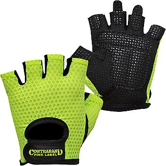 Contraband Sports 5307 Pink Label Diamond Mesh Weight Lifting Gloves - Green