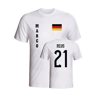 Marco Reus Deutschland-Flaggen-T-Shirt (weiß)
