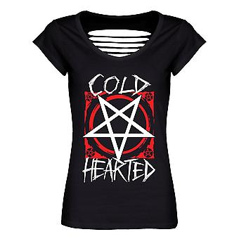 Grindstore Ladies/Womens Cold Hearted Razor Back T-Shirt