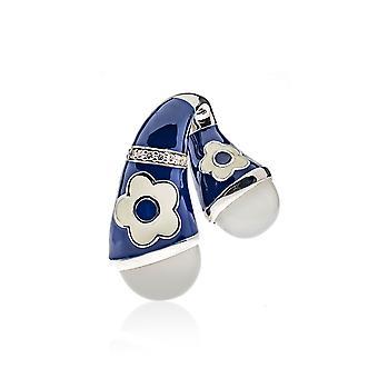 Belle Etoile Blue Fleur Twisted Pendant 02020810802