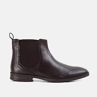 Walker bota de couro marrom chelsea