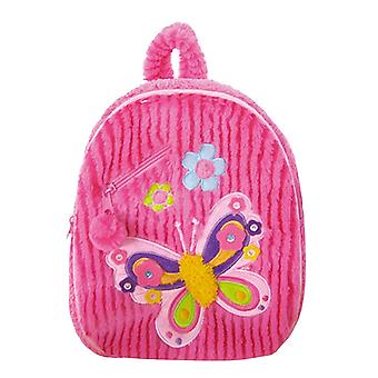 Small Backpack - Pecoware - Fancy Butterfly Small Soft Plush Doll Kids B002FB