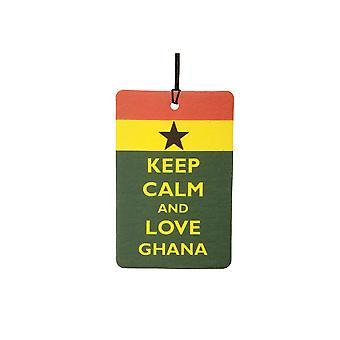 Gardez votre calme et aime Ghana Car Air Freshener