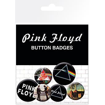 Pink Floyd levyn ja logot rintanappi Pack