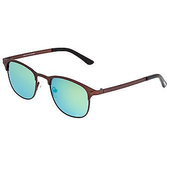Rasfase Titanium gepolariseerde zonnebril-bruin/groen-blauw