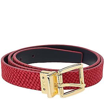 Isaac Mizrahi en direct! Ceinture de sangle en cuir réversible M L Orchid Navy A264211