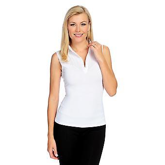 """Slim ' N Lift """"Perfect Fit"""" sem mangas tecido botão frontal top branco S419332"""