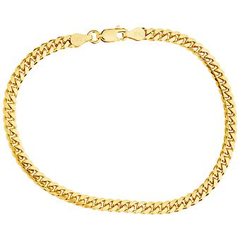 Sterling 925 silver tank chain bracelet - MIAMI 4mm gold