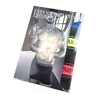 Emporio Armani Neon 3pack Boxer Trunks Black