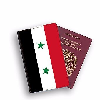 SYRIA Flag Passport Holder Style Case Cover Protective Wallet Flags design