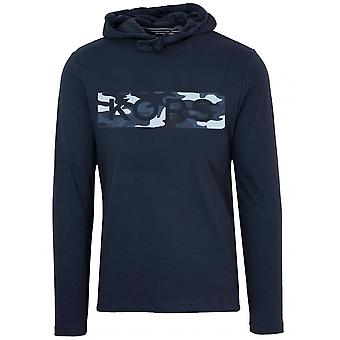 Michael Kors navy blå camo logo hættetrøje