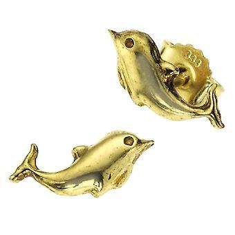Sal? - Unisex lobe earrings - 8k yellow gold (333) - code 221320199XX