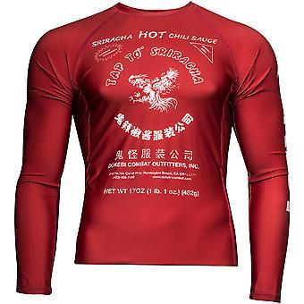 Dokebi Sriracha maniche lunghe BJJ Rashguard - Rosso