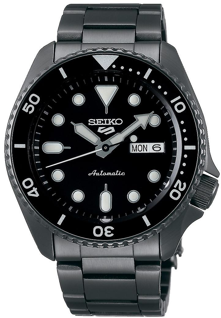 Seiko 5 Sports Black Dial Grey Stainless Steel Automatic Men's Watch SRPD65K1
