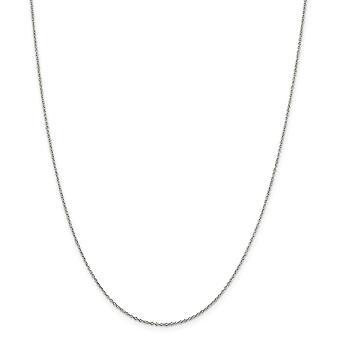 925 סטרלינג כסף רודיום מצופה 0.5mm עם 2inch Ext. שרשרת שרשרת רולו מפואר 18 אינץ' מתנות תכשיטים לנשים