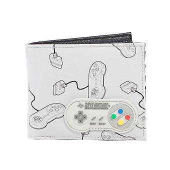 Nintendo Wallet SNES Controller All over print Rubber Patch new Official Bifold