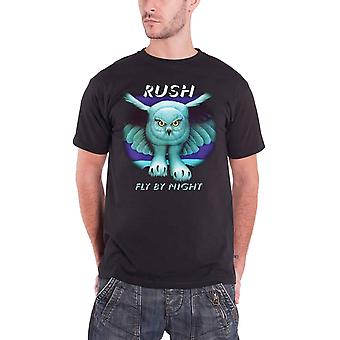 Rush T Shirt Fly By Night Album Cover Classic Band Logo Official Mens New Black