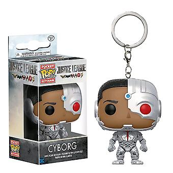 Justice League Movie Cyborg Pocket Pop! Keychain