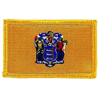 التصحيح Ecusson برود العلم نيو جيرسي Thermocollant الولايات المتحدة الأمريكية الأمريكية