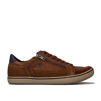 Mens Geox Halver Trainers In Brown- Equipped With Geox Respira Technology