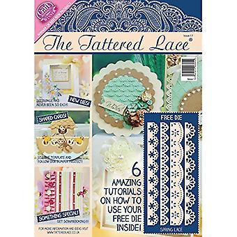 Maak en ambachtelijke papier de gescheurde Lace Magazine issue 17 door Create and Craft