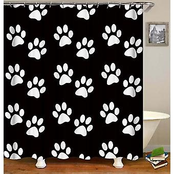 White Dogs' Paws Shower Curtain