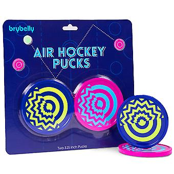 Two-Pack Vivid Air Hockey Pucks, 3.25''
