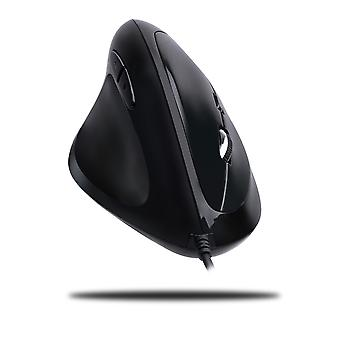 Left-handed vertical ergonomic programmable gaming mouse with adjustable weight