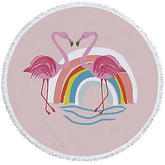 Toalla de playa Rainbow Flamingo